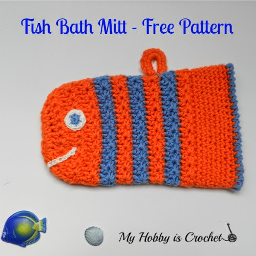 "Crochet bath mitt"" height="