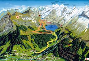 Öschinensee Kandersteg Berner Oberland Schweiz