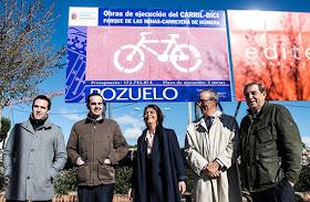 El Ayuntamiento de Pozuelo incorpora 2,5 nuevos kilómetros a la red de carril bici del municipio