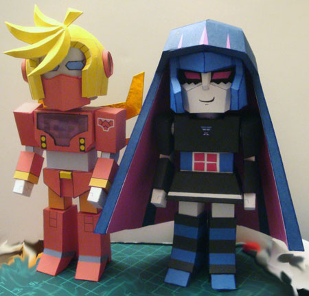 Panty and Stocking With Gaterbelt Papercraft
