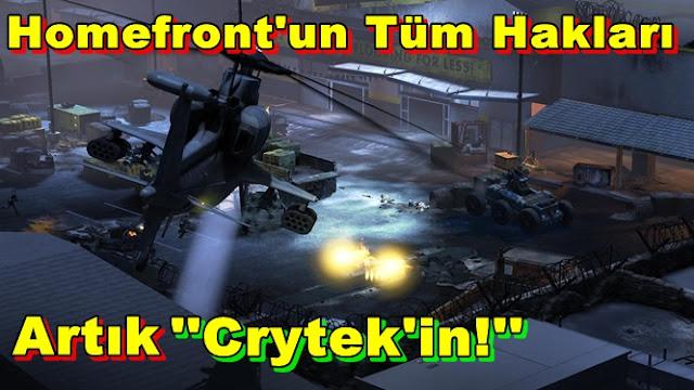 Homefront'un Tüm Hakları Artık Crytek'in!