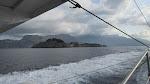 We rode on a ferry along the Amalfi Coast to Capri