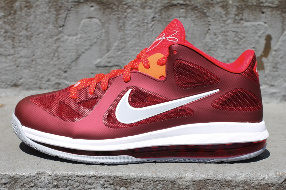 super popular 2aec2 05ec0 Nike LeBron 9 Low 8220Team RedChallenge RedWolf Grey8221 ...