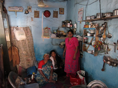 Pune India typical small home Muslim family