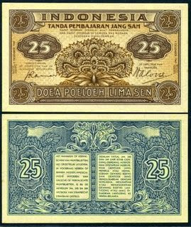 gambar uang kuno 25 sen
