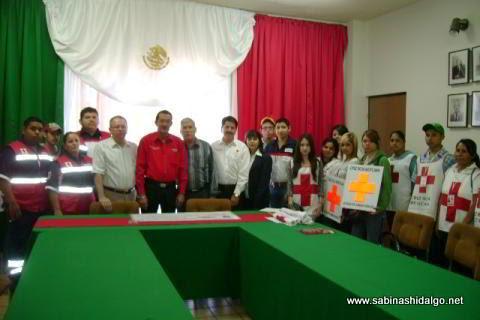Inicio de la colecta anual 2012 de la Cruz Roja Mexicana en Sabinas Hidalgo