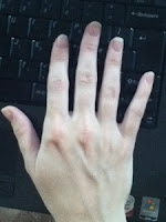 nanoblur - after effect on hands