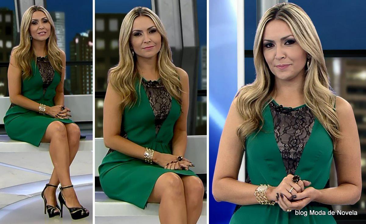 moda do programa Domingo Espetacular - look da Thalita Oliveira dia 15 de junho
