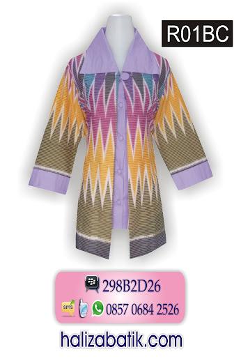 model atasan batik modern, model busana wanita, toko baju online murah