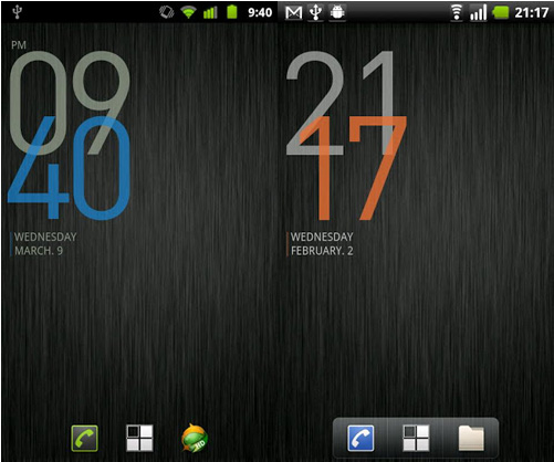 Calendario Android Widget.20 Relojes Minimalista Y Widgets Calendario Para Android