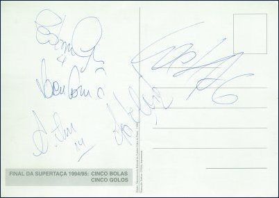 Cinco bolas, cinco golos, cinco autógrafos