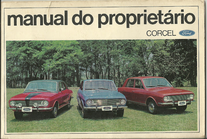 MANUAL FORD CORCEL 1970 1ª EDIÇÃO