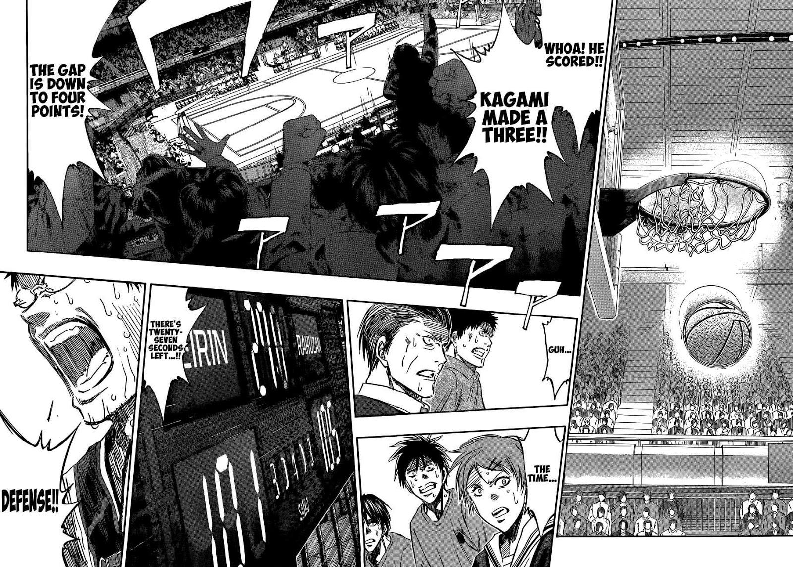 Kuroko no Basket Manga Chapter 272 - Image 10-11