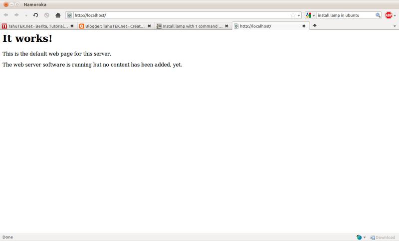 Web server Apache berjalan dengan baik
