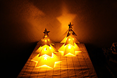 2014 Christmas Tree Candle Lamp Papercraft