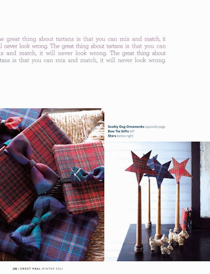 tartan and bow tie gift wrapping