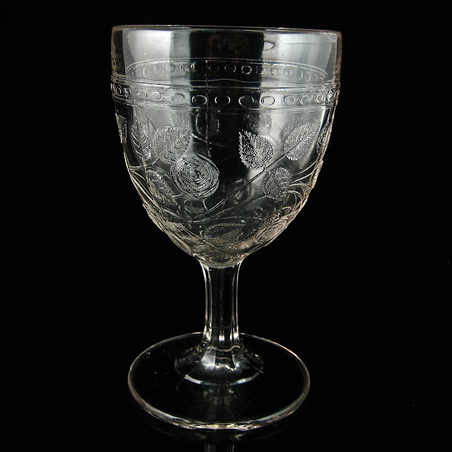 EAPG Cabbage Rose Goblet 1860s