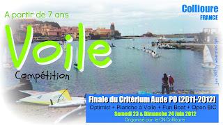 Voile Optimist régate école_de_sport_voile Critérium_Aude_Po finale Collioure 2012