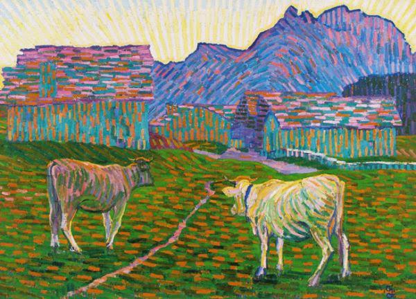 Giovanni Giacometti - Sera sull'alpe