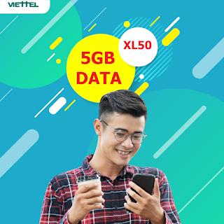 Nhận Miễn phí 5GB Gói XL50 Viettel