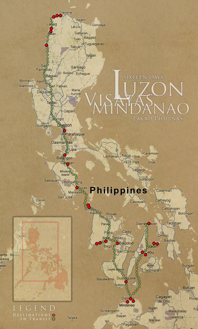 Luzon Visayas Mindanao Lakad Pilipinas