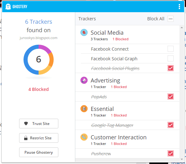 Ghostery-chrome-extension