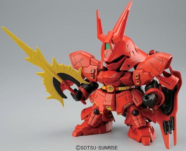Đồ chơi lắp ghép Sazabi SD Gundam nhỏ xinh, kết cấu đầy tính biểu cảm, sống động