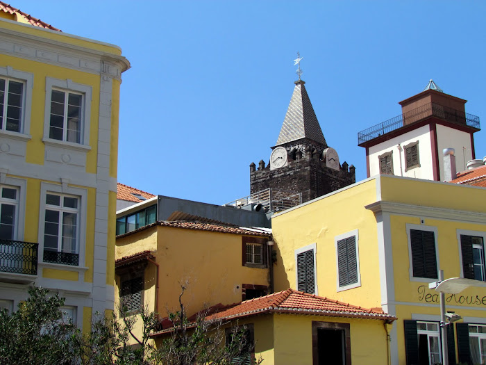 old central buildings and the cathedral tower