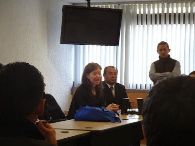 Recibidos por la Secretaria Académica del IIJ de la UNAM, la Dra. Mónica González Condró