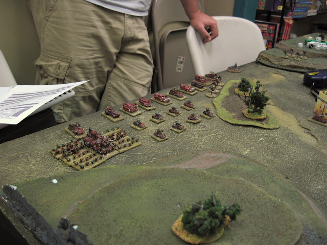 Eric's right flank.