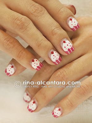 Dazzled Cupcakes Nail Art by Simply Rins