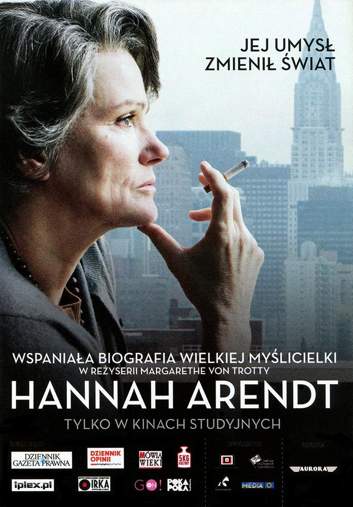 Ulotka filmu 'Hannah Arendt (przód)'