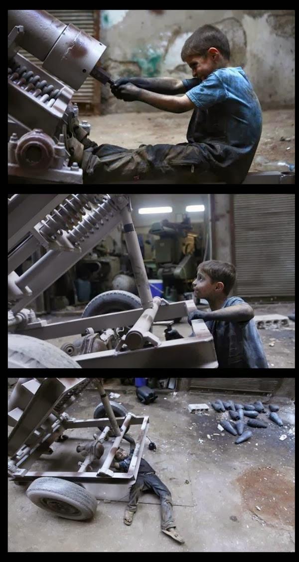 Pembuat Senjata Di Syria Berumur 10 Tahun