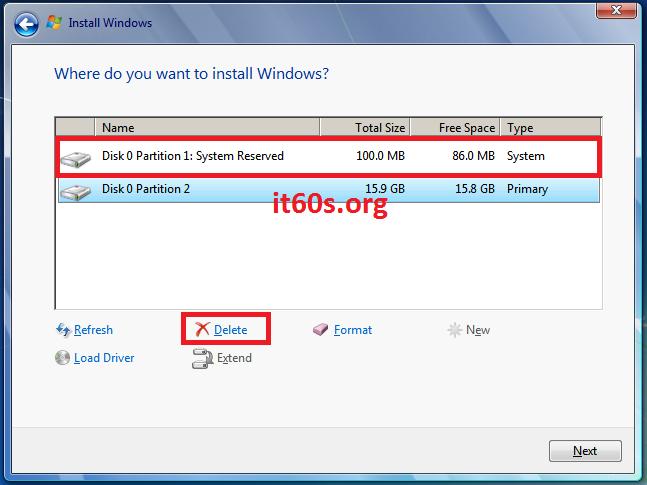 Thủ thuật khắc phục lỗi 0x80070057 khi cài Windows 7 7