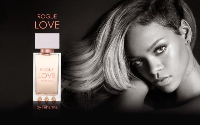 Rihanna's new fragrance, ROGUE Love