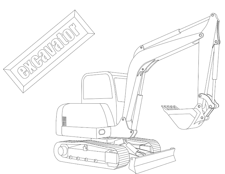 excavator coloring pages to print - photo#28