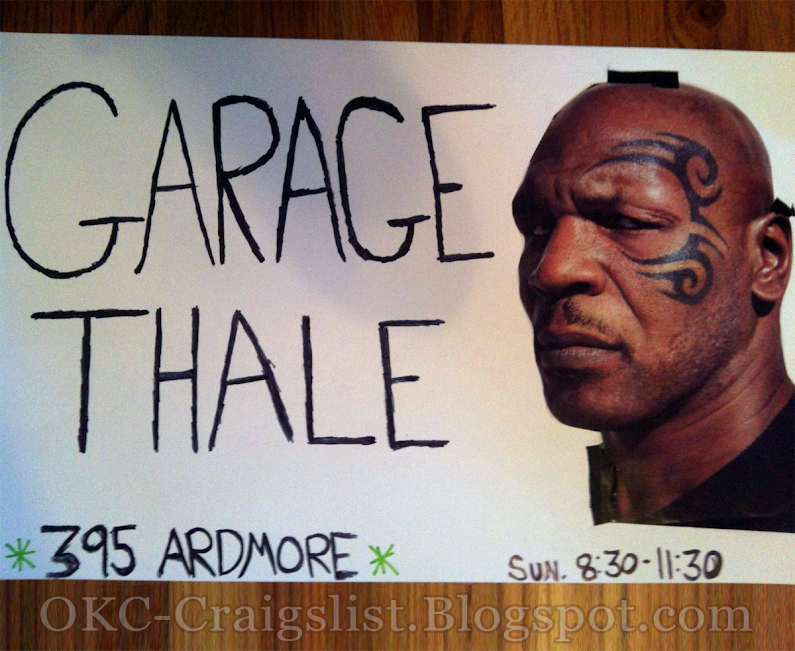GARAGE SALE SIGN-OF-THE-WEEK: Garage Thale