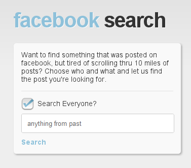 Search For Old Facebook Updates And Twitter Tweets With SocialSearching.Info