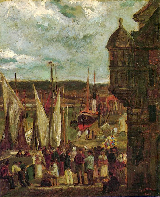 Theodore Robinson - Harbor Scene-1876