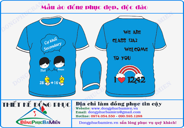 Dong phuc hoc sinh lop 12A2 truong THPT Thanh Hoa - Binh Phuoc
