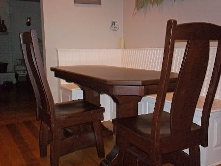 "Breton Chairs and 62"" x 26"" Tuscany Dining Table in Rustic Oak"