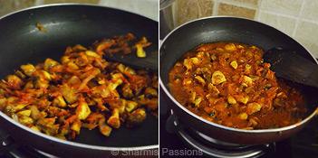 Mushroom Do Pyaza Step4