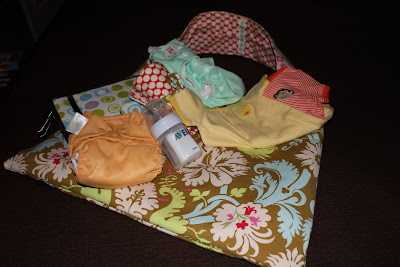 Nappy bag & contents, by Becky Laswell.