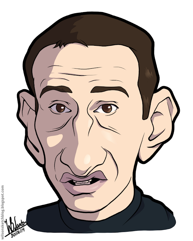 Cartoon caricature of Paulo Bento.