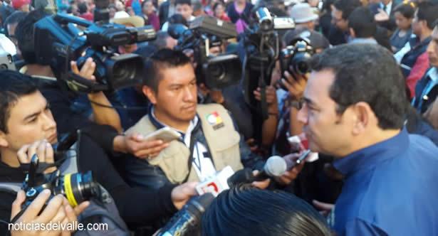 Presidente Morales espera resolución de la Corte de Constitucionalidad sobre el tema de gobernador