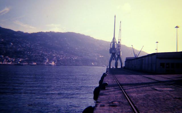 historic photo: Funchal port to cruise ships and cargo, today it's only to cruises