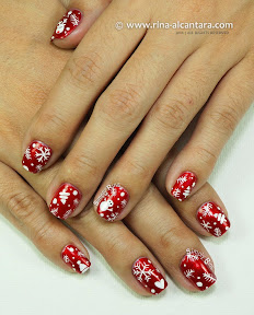 Christmas Wrapper Nail Art by Simply Rins