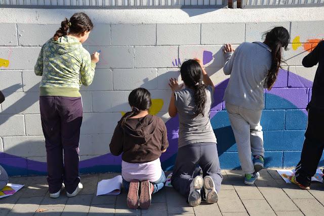 pintura mural jovenes ceip boada