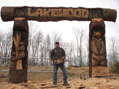 On site carving in West Virginia