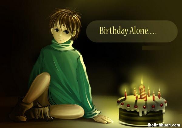 thơ sinh nhật cô đơn